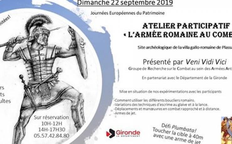 """Atelier Participatif """" l'Armée romaine au combat"""""""