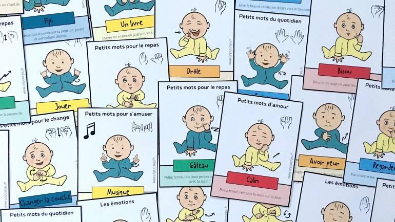 👶❤ Signer avec son bébé : 48 cartes à télécharger gratuitement