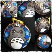 Voilà la boule de Noël Totoro finie…