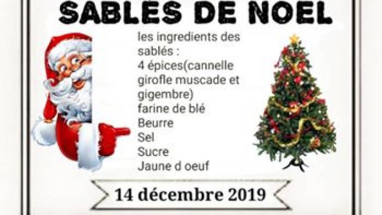 Nos sablés de Noël made in A L'ASSAUT vous serons proposé le 14 décembre pour le…