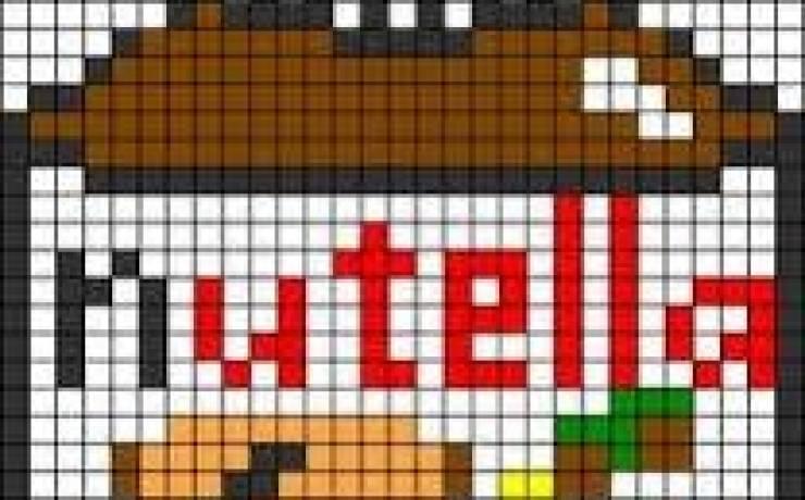 Un pixel art spécial gourmands gourmandes