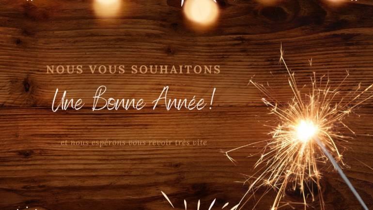 Bonne année   L'équipe de Bourg Cubzaguais tourisme vous souhaitent à tous une b…